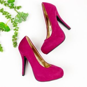 Mossimo Pink Suede Holiday Collection Heels Pumps